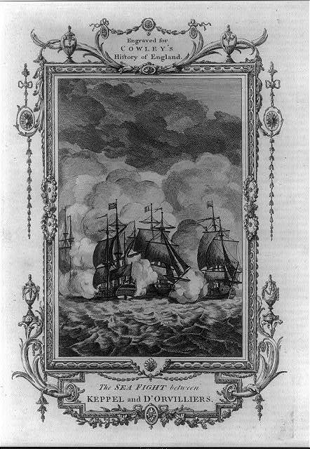 The sea fight between Keppel and d'Orvilliers