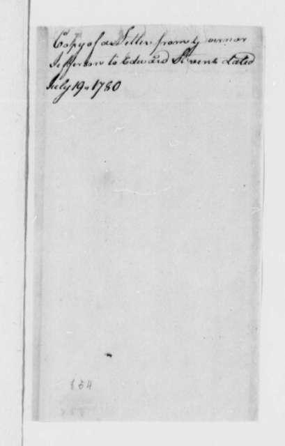 Thomas Jefferson to Edward Stevens, July 19, 1780