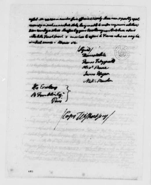 Thomas White, et al to Benjamin Franklin, January 4, 1780
