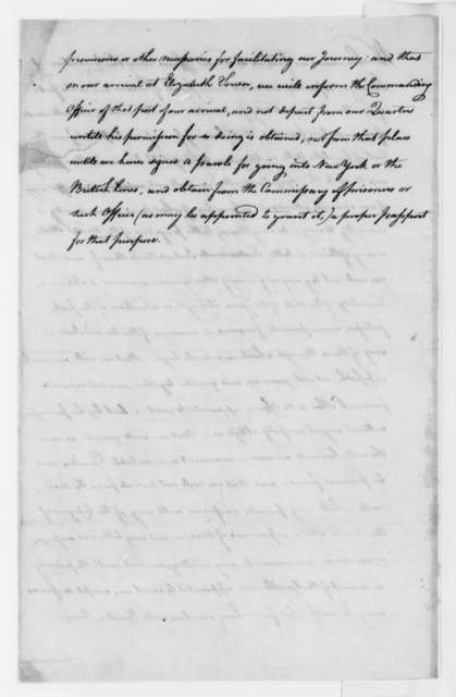 William Phillips, October 1780, Parole Observance under Saratoga Convention; with Travel Route