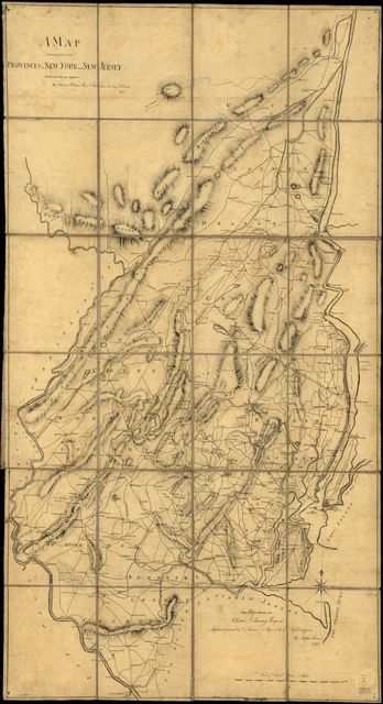 A map containing part of the Provinces of New York and New Jersey,