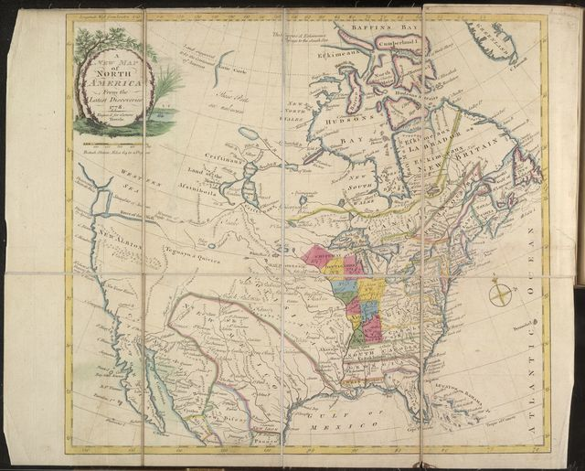 A new map of North America : from latest discoveries, 1778 /