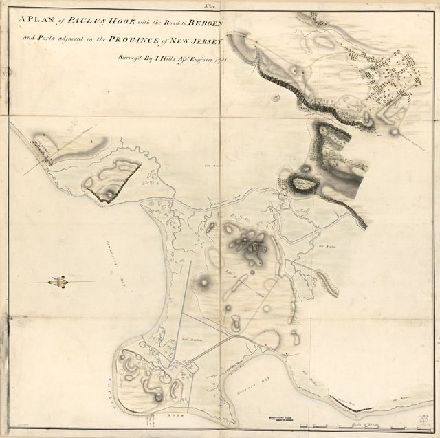 A plan of Paulus Hook with the road to Bergen and parts adjacent in the province of New Jersey /