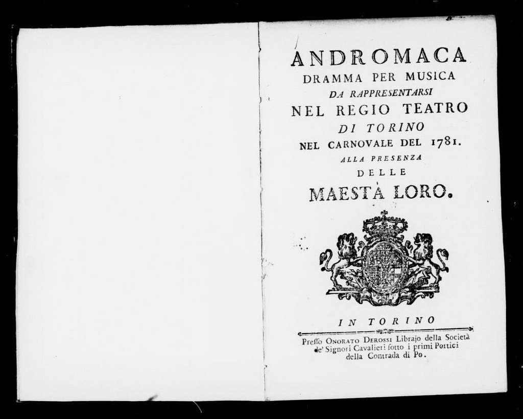 Andromaca. Libretto. Italian