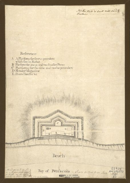 [Bay of Pensacola, fortification.