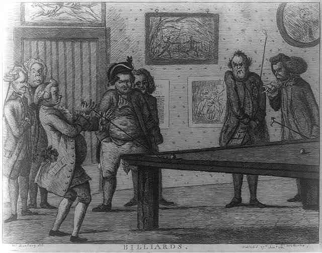 Billiards / Mr. Bunbury, del ; Js. Bretherton, f.