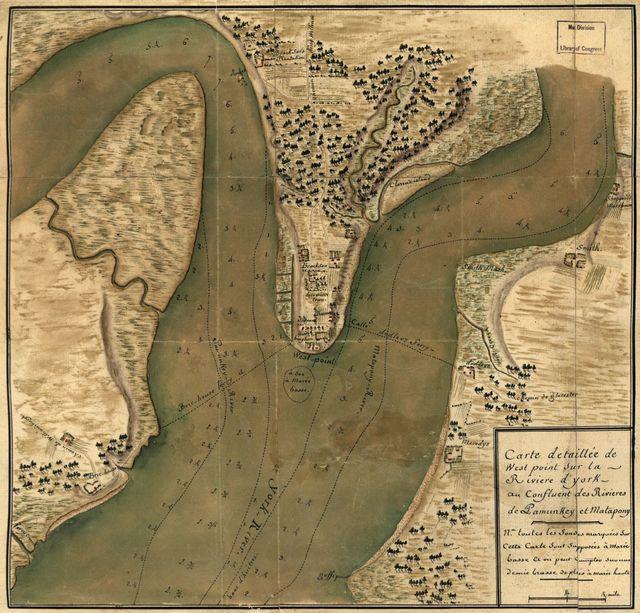 Carte detaillée de West Point sur la rivière d'York au confluent des Rivières de Pamunkey et Matapony.