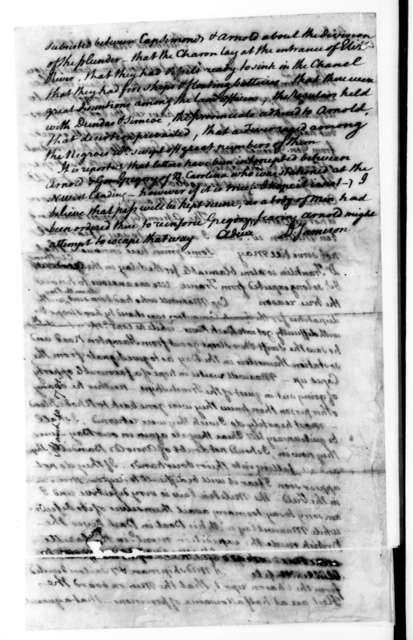David Jameson to James Madison, March 10, 1781.
