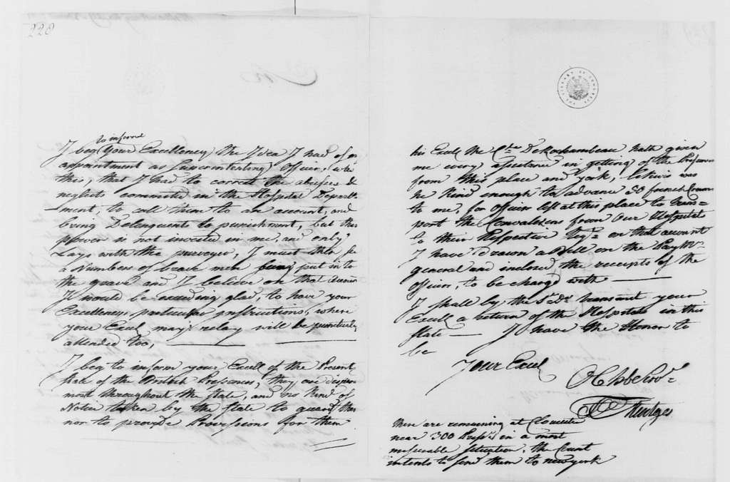 George Washington Papers, Series 4, General Correspondence: Francis Mentges to George Washington, November 29, 1781