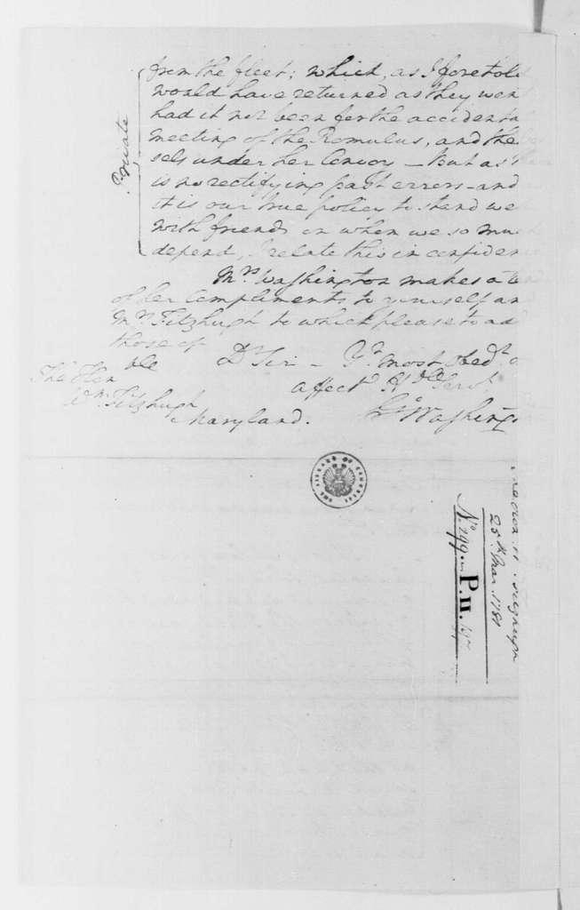 George Washington Papers, Series 4, General Correspondence: George Washington to William Fitzhugh, March 25, 1781