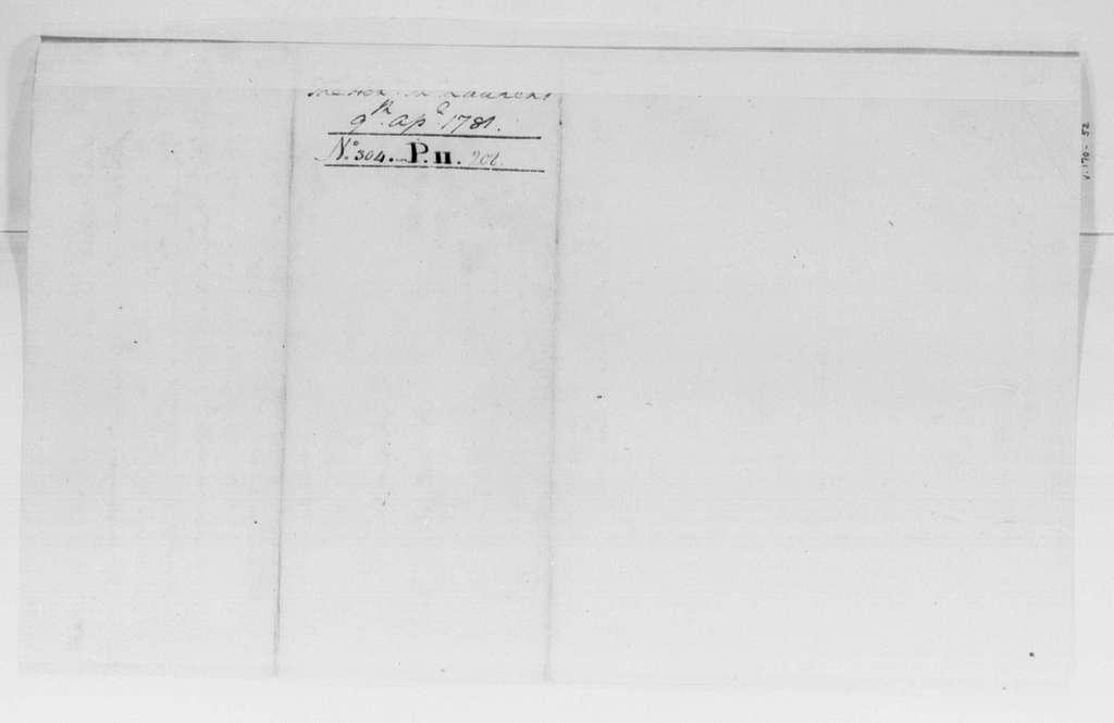 George Washington Papers, Series 4, General Correspondence: George Washington to John Laurens, April 9, 1781