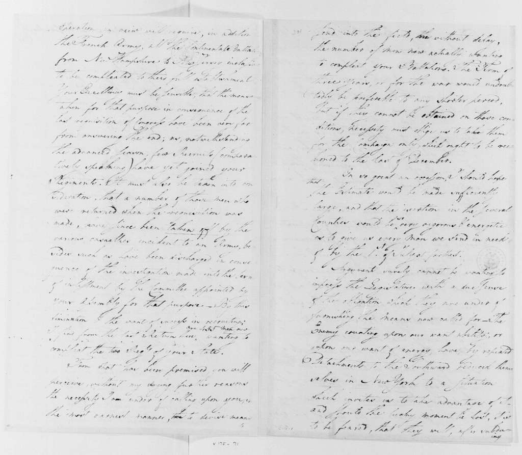 George Washington Papers, Series 4, General Correspondence: George Washington to William Livingston, May 27, 1781