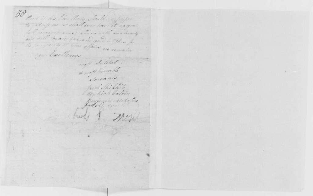 George Washington Papers, Series 4, General Correspondence: Jacob Skikkite, et al to William Livingston, February 20, 1781