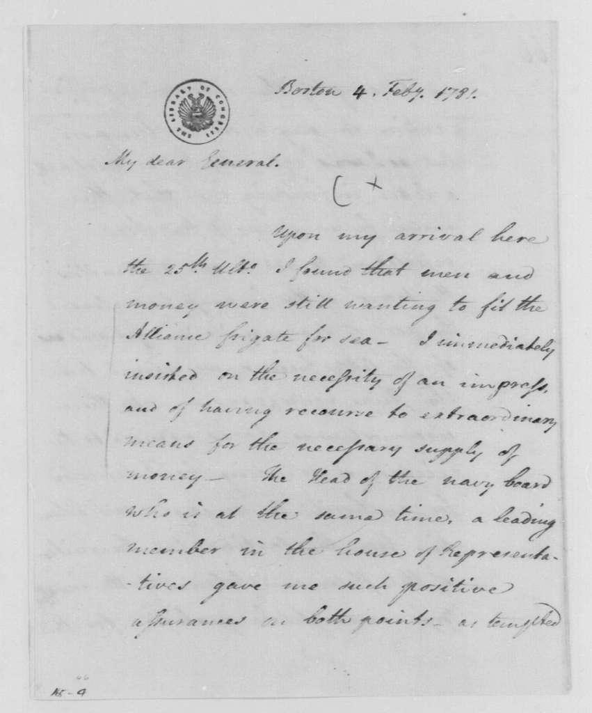 George Washington Papers, Series 4, General Correspondence: John Laurens to George Washington, February 4, 1781