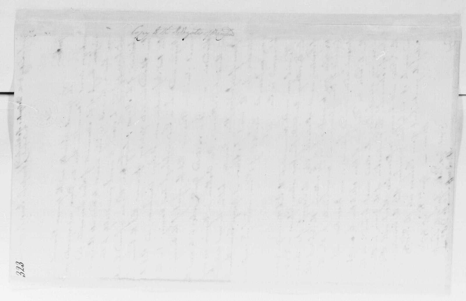 George Washington Papers, Series 4, General Correspondence: Maryland Legislature to Maryland Delegates to Congress, June 1, 1781