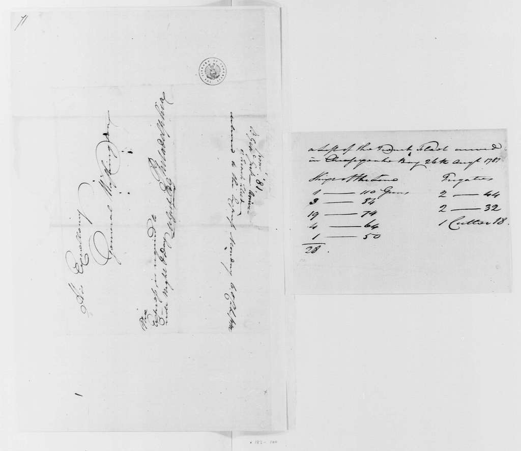George Washington Papers, Series 4, General Correspondence: Mordecai Gist to George Washington, September 4, 1781