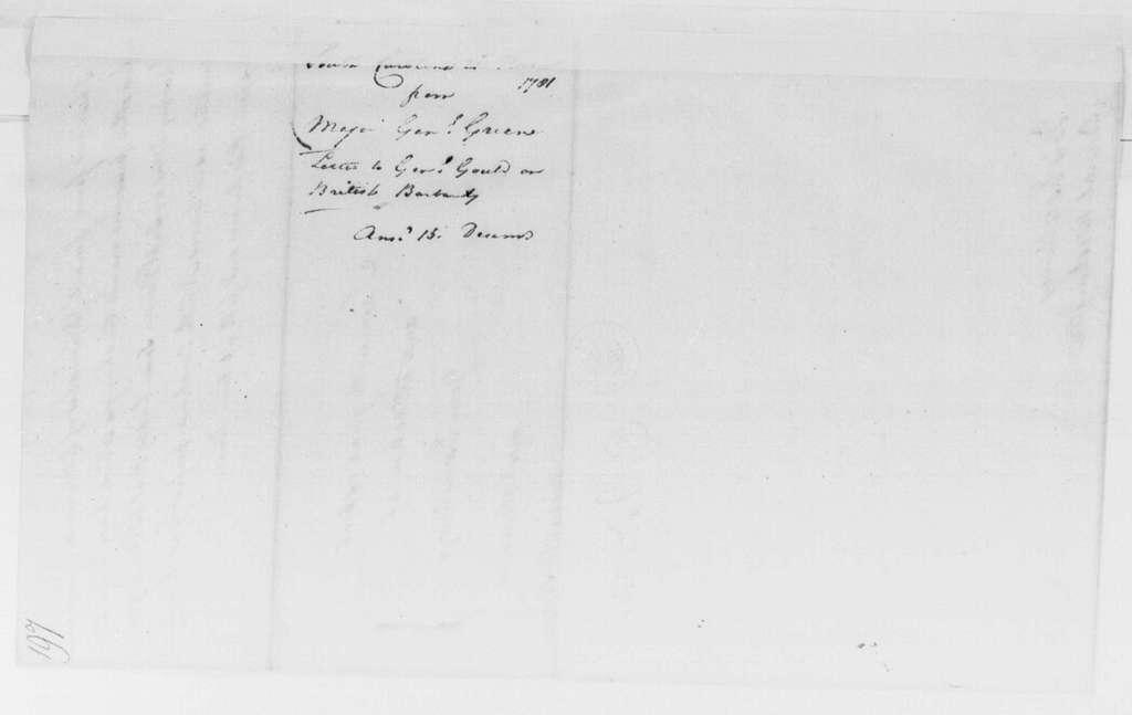 George Washington Papers, Series 4, General Correspondence: Nathanael Greene to George Washington, November 21, 1781
