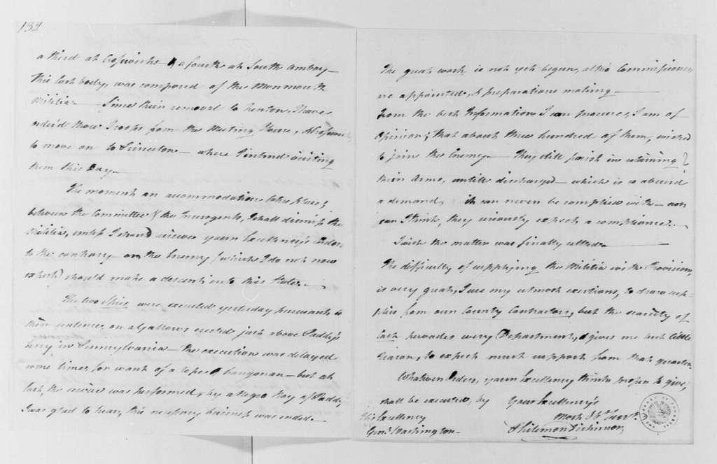 George Washington Papers, Series 4, General Correspondence: Philemon Dickinson to George Washington, January 12, 1781
