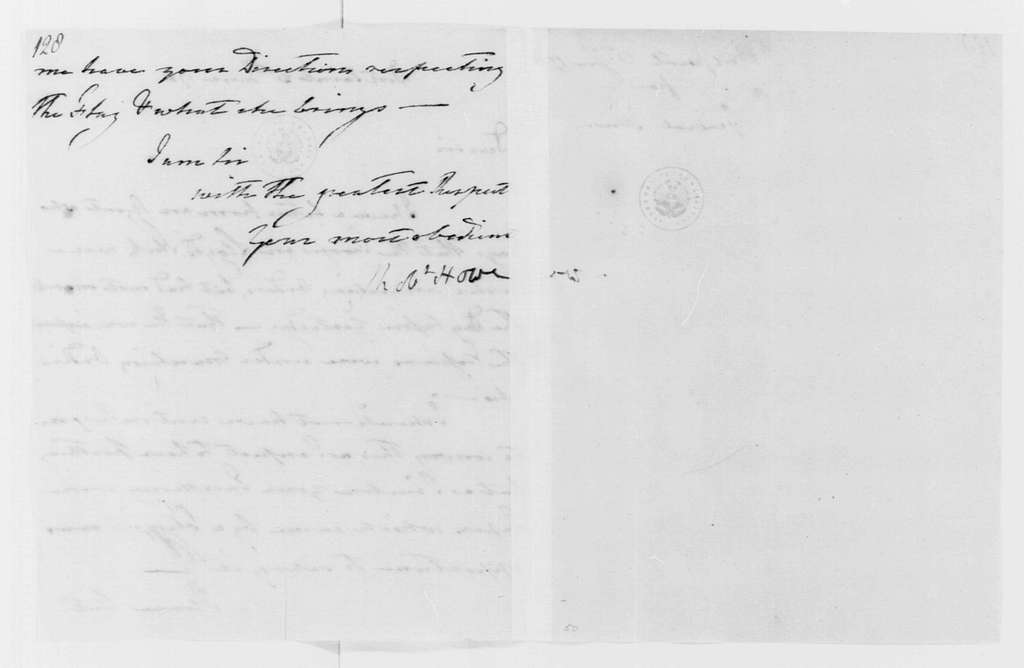 George Washington Papers, Series 4, General Correspondence: Robert Howe to George Washington, June 21, 1781