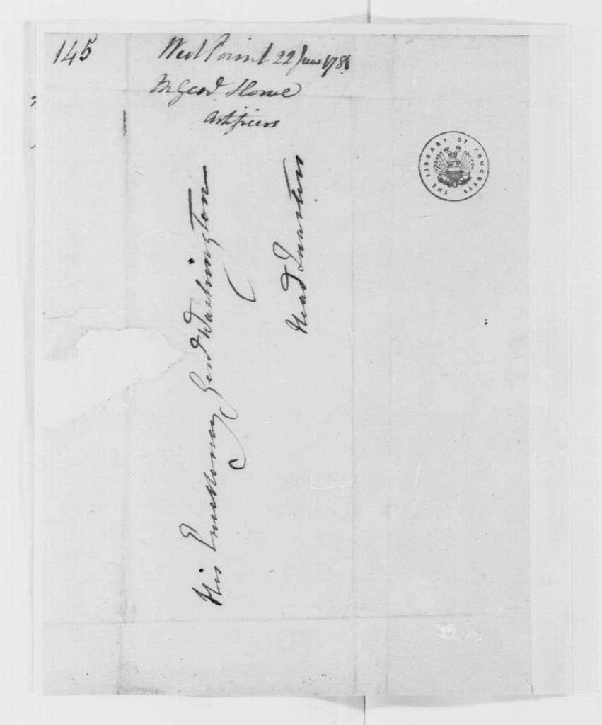 George Washington Papers, Series 4, General Correspondence: Robert Howe to George Washington, June 22, 1781