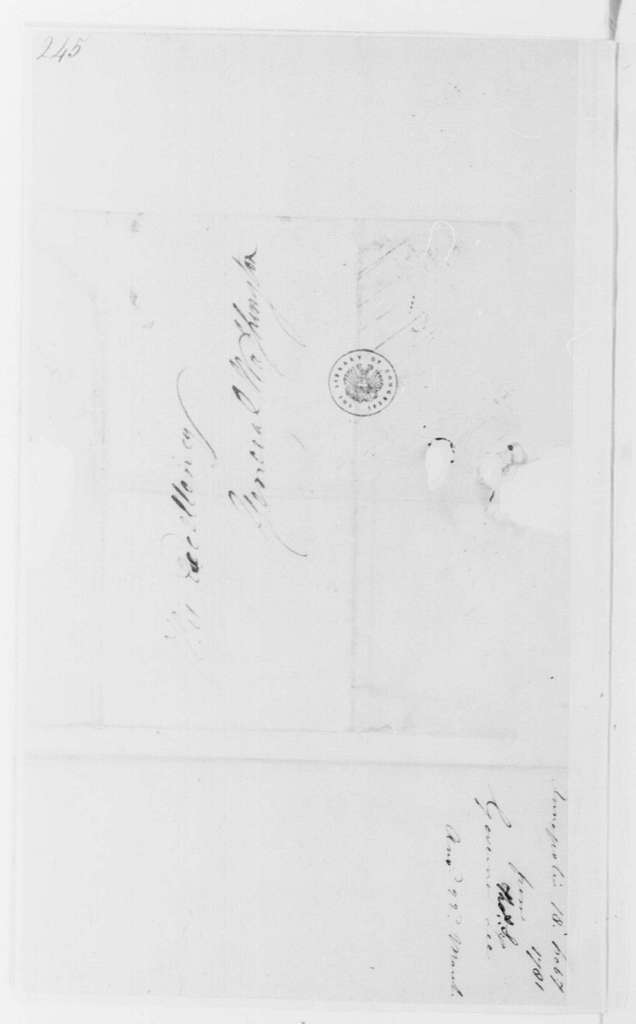 George Washington Papers, Series 4, General Correspondence: Thomas Sim Lee to George Washington, February 18, 1781