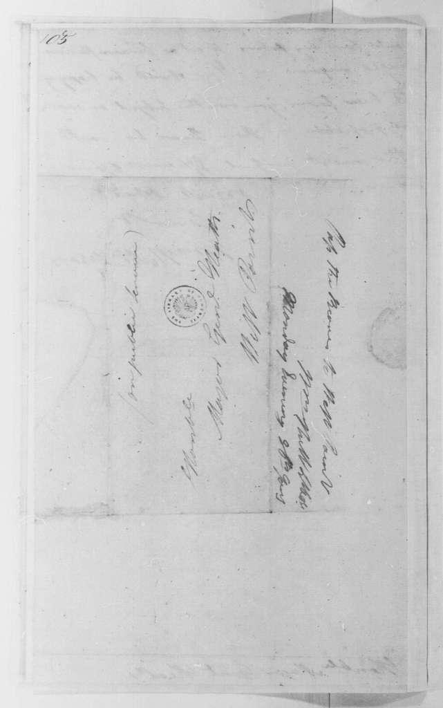 George Washington Papers, Series 4, General Correspondence: William Hull to William Heath, January 8, 1781