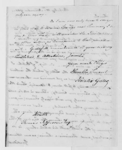 Horatio Gates to Thomas Jefferson, November 15, 1781