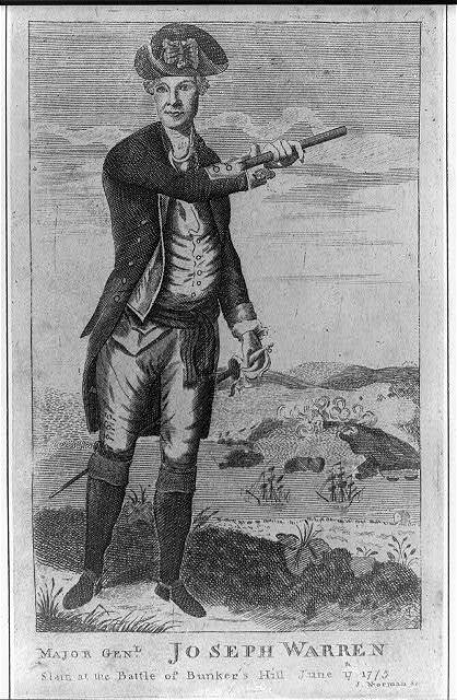 Major gen'l. Joseph Warren - slain at the battle of Bunker's Hill June 17th 1775 / J. Norman sc.
