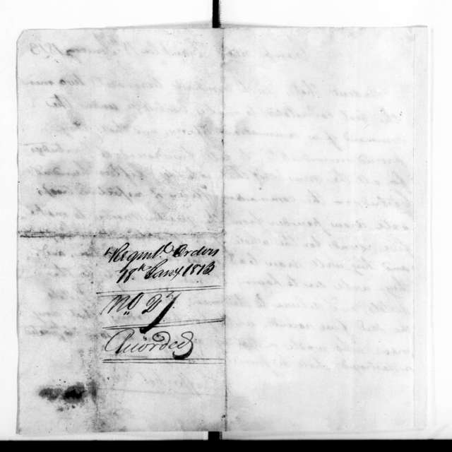 Military Papers - Jan. 2, 1781 to Oct. 4, 1813, Vol. I