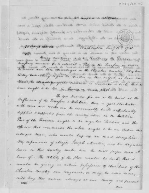 Richard Campbell to George Muter, January 16, 1781