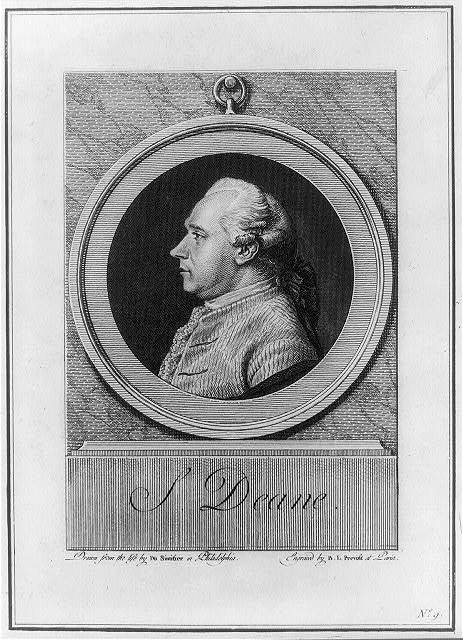S. Deane / drawn from the life by Du Simitier in Philadelphia ; engraved by B.L. Prevost at Paris.