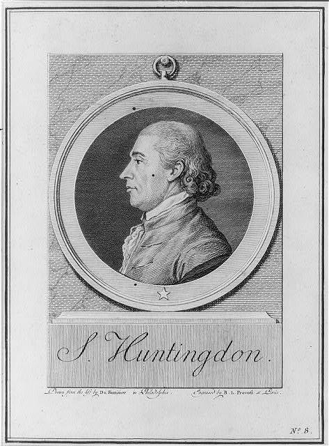 S. Huntingdon [sic] / drawn from the life by Du Simitier in Philadelphia ; engraved by B.L. Prevost at Paris.