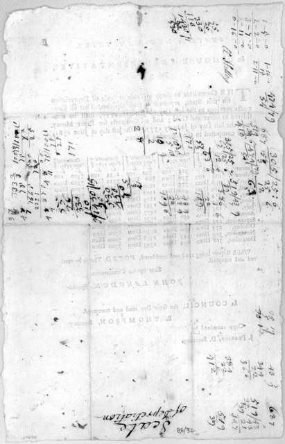State of New-Hampshire. In the House of representatives. July 3, 1781. The committee to form a table or scale of depreciation for this State, reported as their opinion, That all contracts previous to the last day of January 1777, shall be consid