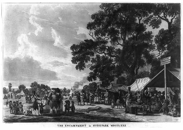 The encampment in Hyde Park MDCCLXXX / P. Sandby fecit.