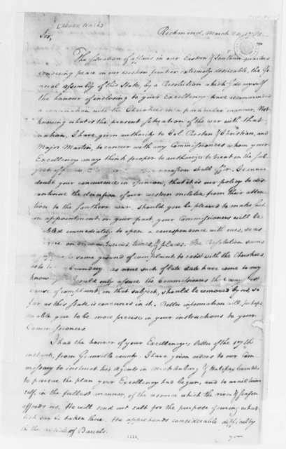 Thomas Jefferson to Abner Nash, March 24, 1781