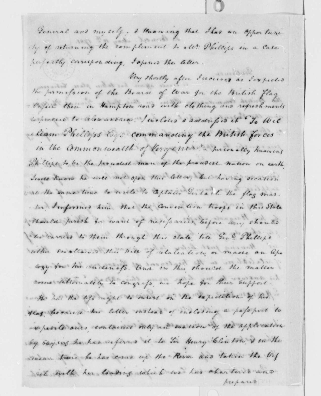 Thomas Jefferson to Virginia Delegates in the United States Congress, May 10, 1781