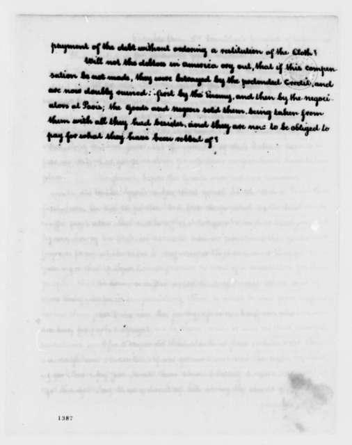 Benjamin Franklin to Richard Oswald, November 26, 1782, Extract
