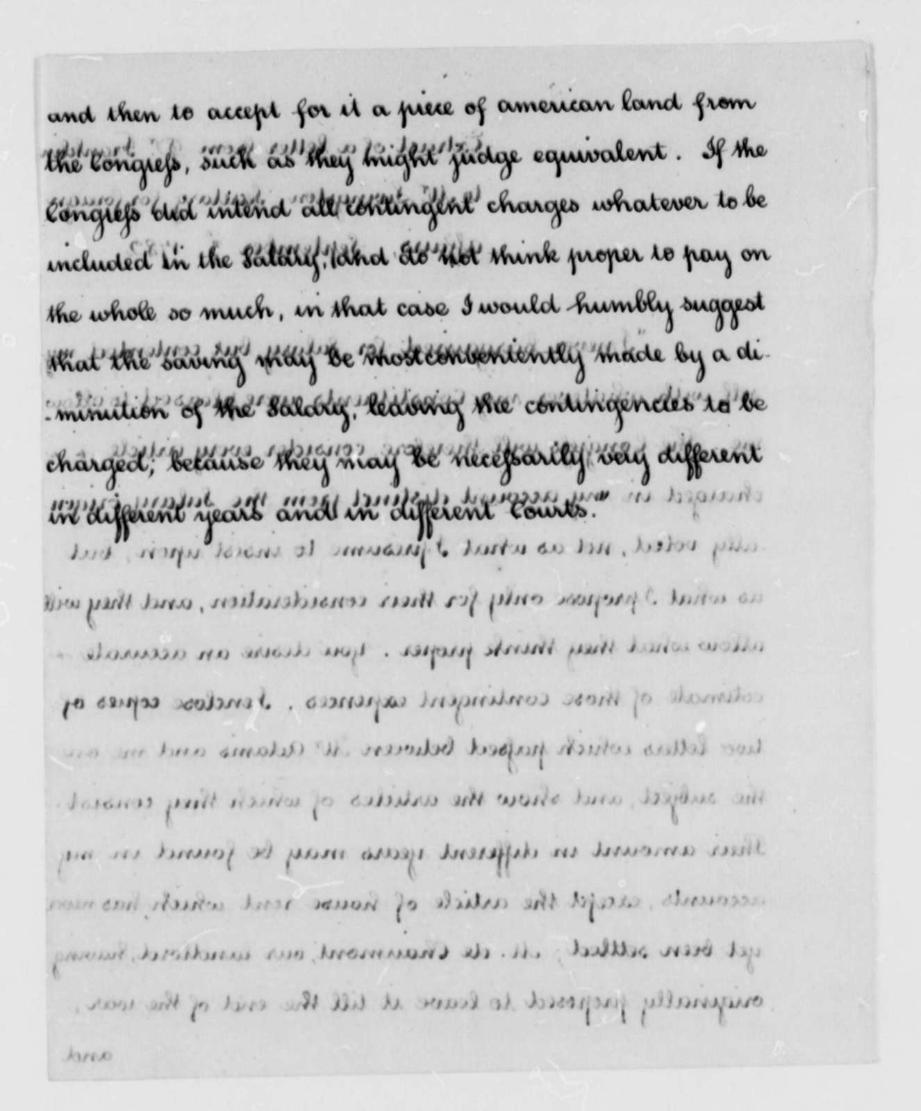 Benjamin Franklin to Robert R. Livingston, September 3, 1782, Extract and Copy