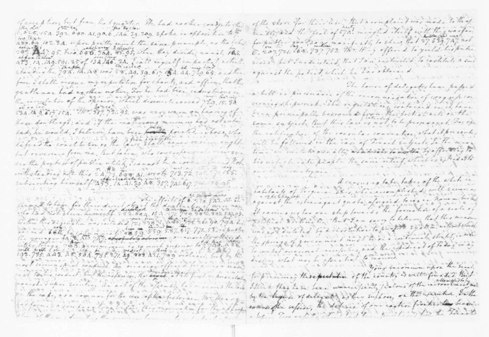 Edmund Randolph to James Madison, June 20, 1782.