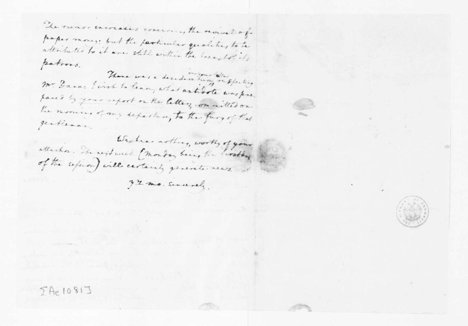 Edmund Randolph to James Madison, May 5, 1782.