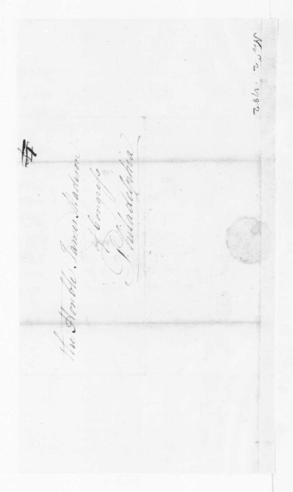 Edmund Randolph to James Madison, November 2, 1782.