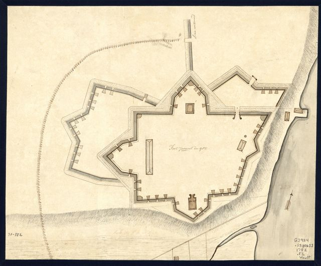 Fort Provost in 1782.
