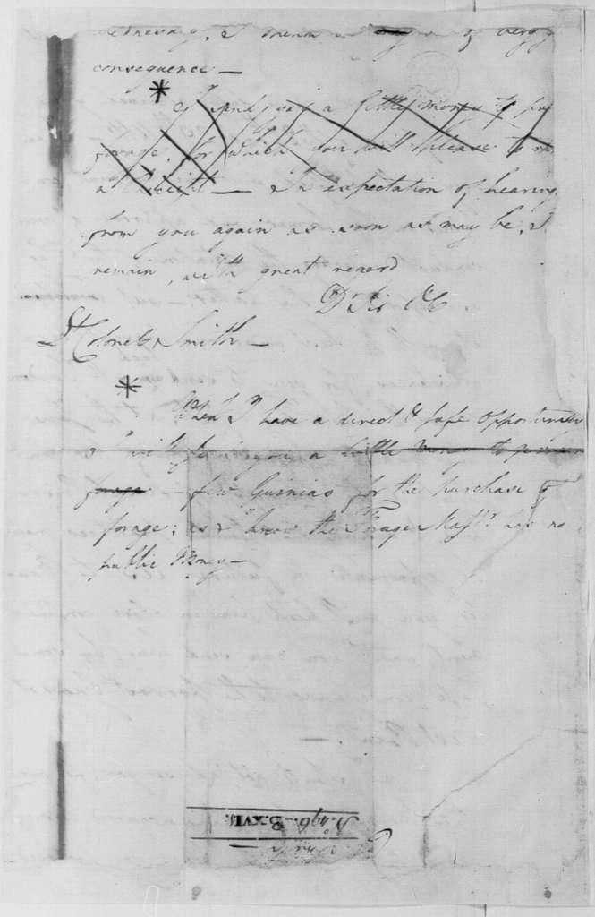 George Washington Papers, Series 4, General Correspondence: George Washington to William S. Smith, December 1, 1782