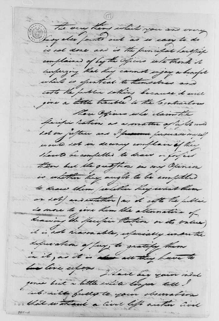 George Washington Papers, Series 4, General Correspondence: George Washington to Robert Morris, June 16, 1782