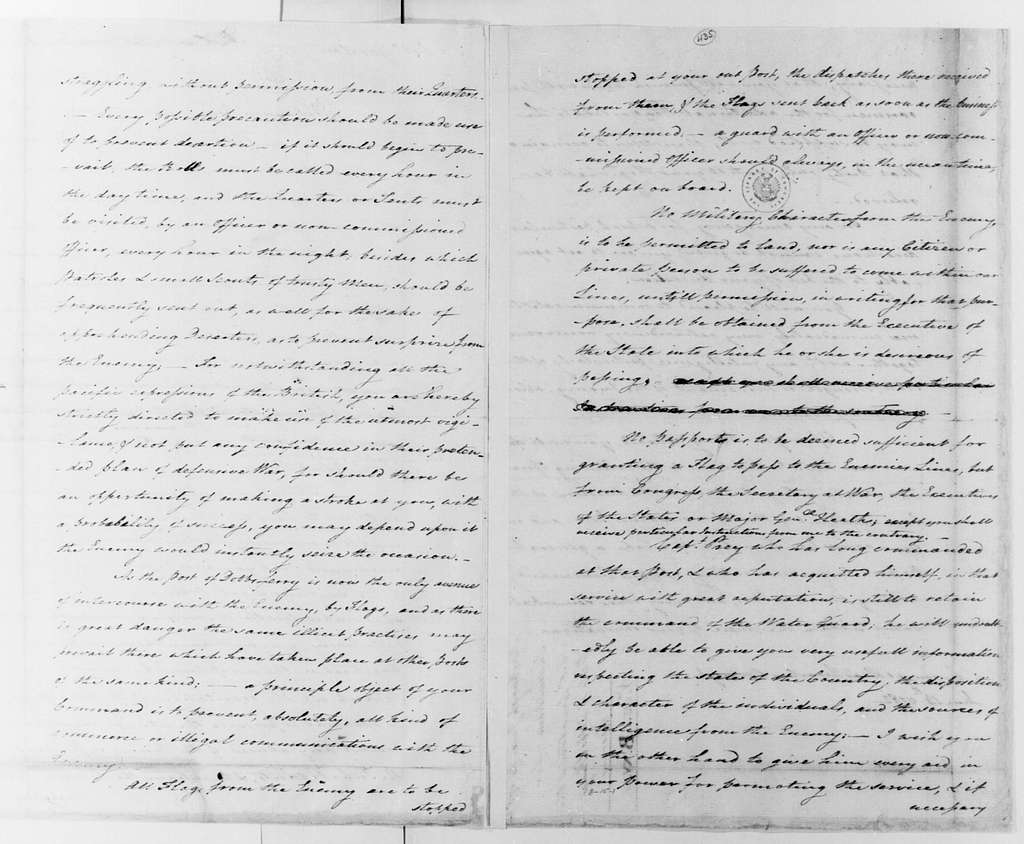 George Washington Papers, Series 4, General Correspondence: George Washington to John Greaton, June 14, 1782