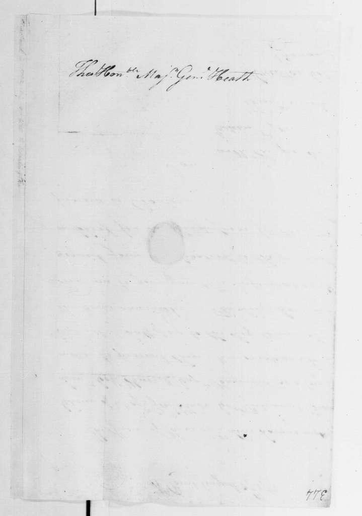George Washington Papers, Series 4, General Correspondence: John Greaton to William Heath, August 27, 1782