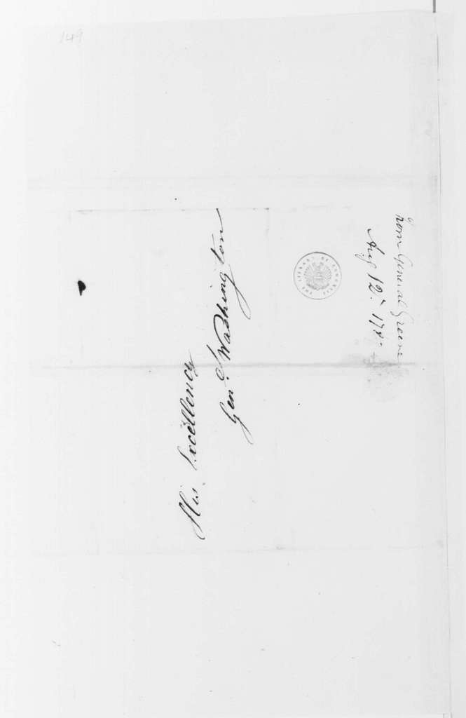George Washington Papers, Series 4, General Correspondence: Nathanael Greene to George Washington, August 12, 1782