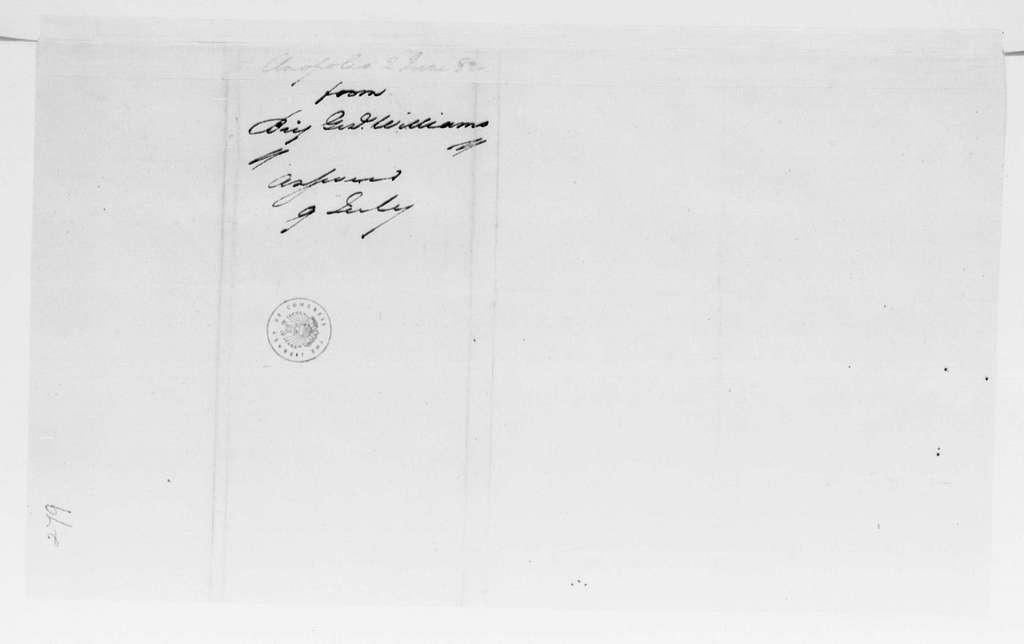George Washington Papers, Series 4, General Correspondence: Otho H. Williams to George Washington, June 2, 1782