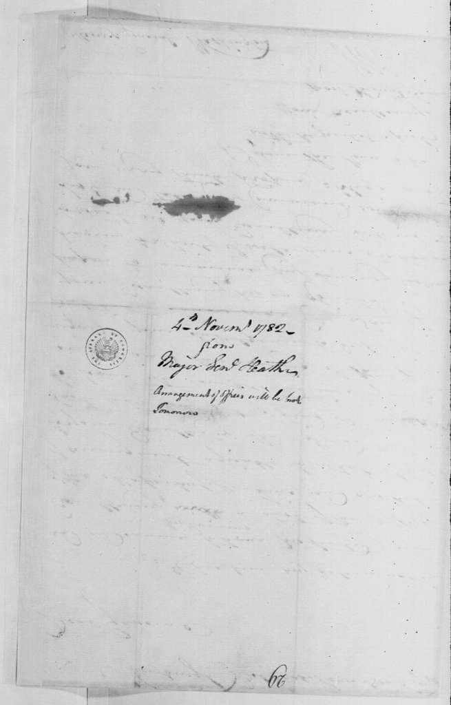 George Washington Papers, Series 4, General Correspondence: William Heath to George Washington, November 4, 1782