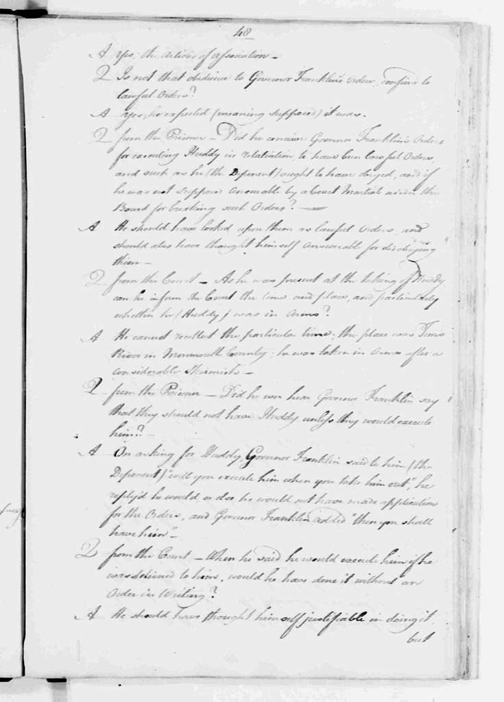 George Washington Papers, Series 6, Military Papers, 1755-1798, Subseries 6C, Captured British Orderly Books, 1777-1778: British Army, Proceedings of Court Martial of Captain Richard Lippincott, May 3-June 22, 1782